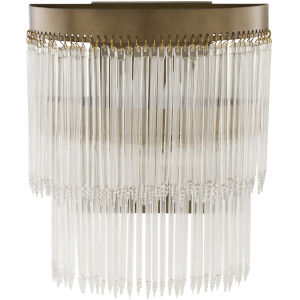 Layne Brass 5-Inch Two-Light Wall Sconce