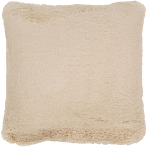 Lapalapa Khaki 20-Inch Pillow With Polyester Fill