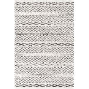 La Casa Black Stripe Rectangle 6 Ft. 7 In. x 9 Ft. Rug