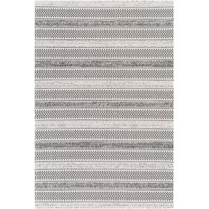 La Casa Black and Ivory Rectangle 6 Ft. 7 In. x 9 Ft. Rug