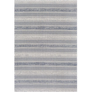 La Casa Dark Blue Rectangle 6 Ft. 7 In. x 9 Ft. Rug