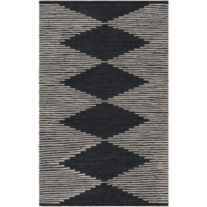 Lexington Black and Khaki Rectangular: 8 Ft. x 10 Ft. Rug