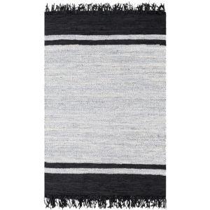 Lexington Black and Light Gray Rectangular: 5 Ft. x 7 Ft. 6 In. Rug