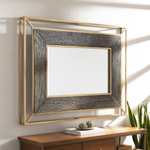 Allure Brown and Gold Wall Mirror