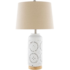 Lucille White One-Light Table Lamp