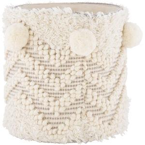 Mali Cream 12-Inch Decorative Basket
