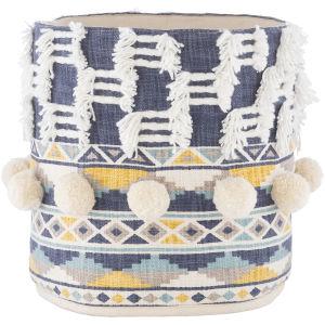 Mansa Navy 14-Inch Decorative Basket