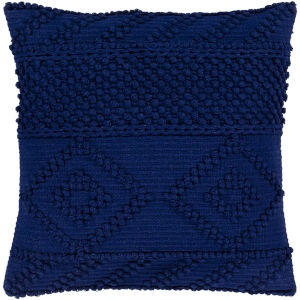Merdo Navy 22-Inch Pillow With Down Fill