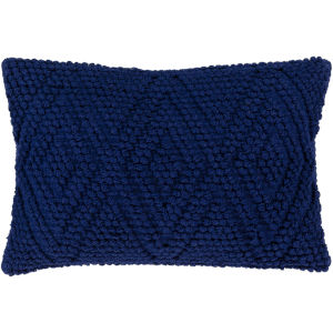Merdo Navy 14-Inch Pillow With Down Fill