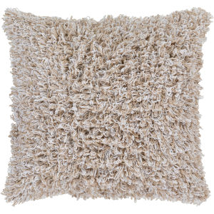 Merdo Beige 20-Inch Pillow With Down Fill