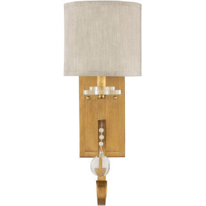 Medland Gold and Natural 9-Inch One-Light Wall Sconce