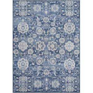 Monaco Bright Blue Rectangle 6 Ft. 7 In. x 9 Ft. 6 In. Rugs