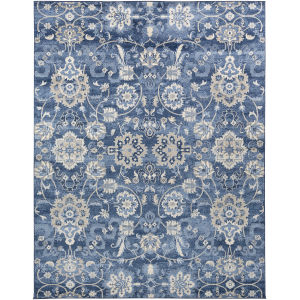 Monaco Bright Blue Rectangle 7 Ft. 10 In. x 10 Ft. 3 In. Rugs