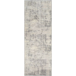 Monaco Silver Gray and Medium Gray Rectangular: 6 Ft. 7 In. x 9 Ft. 6 In. Rug