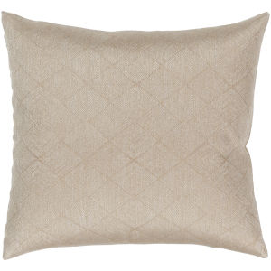 Messina Tan 18-Inch Pillow With Down Fill
