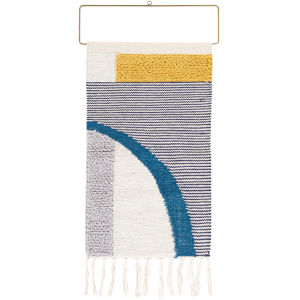 Matisse Gray and Navy Wall Hanging