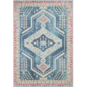 Murat Blue Rectangle 6 Ft. 7 In. x 9 Ft. Rug