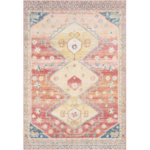 Murat Coral Rectangle 6 Ft. 7 In. x 9 Ft. Rugs