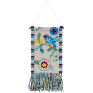Nest Bright Blue Wall Hanging