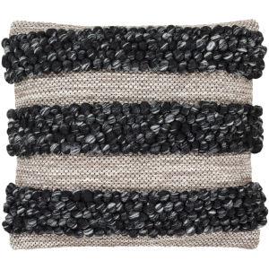 Anton Black 22-Inch Pillow Cover