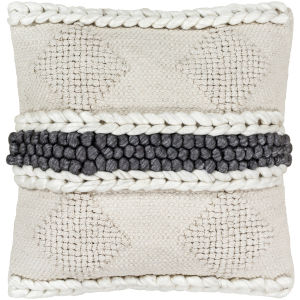 Anton Khaki 22-Inch Pillow With Polyester Fill