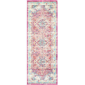 Norwich Bright Pink Runner 2 Ft. 7 In. x 7 Ft. 3 In. Rugs