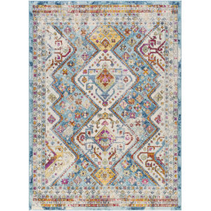 Norwich Blue Tan Rectangle 6 Ft. 7 In. x 9 Ft. Rug
