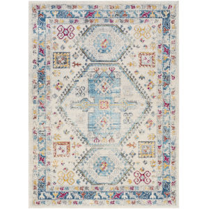 Norwich Blue Cream Rectangle 6 Ft. 7 In. x 9 Ft. Rug