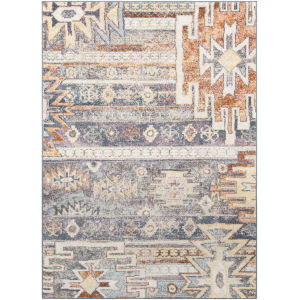 New Mexico Medium Gray Rectangle 5 Ft. 3 In. x 7 Ft. 3 In. Rugs