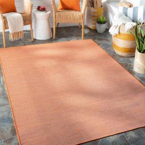 Pasadena Burnt Orange Rectangular: 6 Ft. 4 In. x 9 Ft. Indoor-Outdoor Rug
