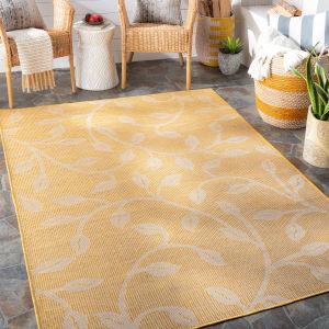 Pasadena Saffron Rectangular: 6 Ft. 4 In. x 9 Ft. Indoor-Outdoor Rug
