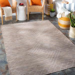 Pasadena Dark Brown Rectangular: 6 Ft. 4 In. x 9 Ft. Indoor-Outdoor Rug