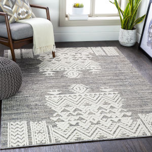 Ariana Medium Gray Rectangle 8 Ft. 10 In. x 12 Ft. Rug