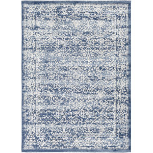 Roma Navy Rectangle 6 Ft. 7 In. x 9 Ft. Rugs