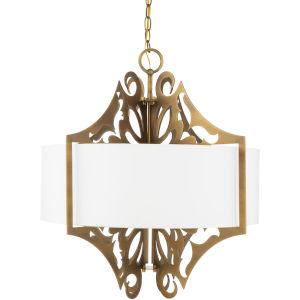 Roxy White Three-Light Pendant