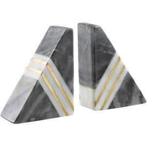 Slate Grey Bookends