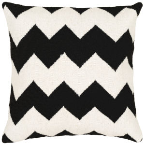 Shiprock White 20-Inch Pillow With Polyester Fill