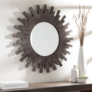Sun Brown 36-Inch Wall Mirror