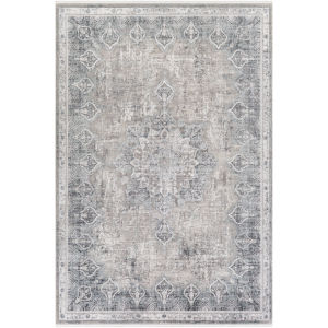 Solar Medium Gray and Black Rectangular: 2 Ft. x 3 Ft. Rug