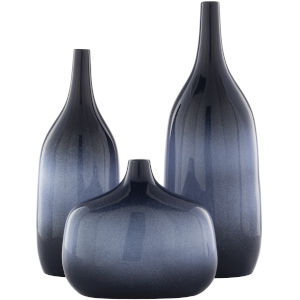 Sparta Blue Vases, Set of 3