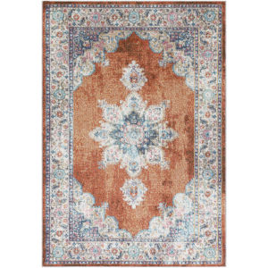 Serapi Cream, Rose and Pale Pink Rectangular: 7 Ft. 10 In. x 10 Ft. 6 In. Rug
