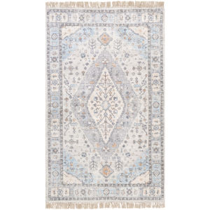 Sivas Taupe and Burnt Orange Rectangular: 5 Ft. x 7 Ft. 6 In. Rug