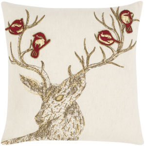 Syne Beige 20-Inch Throw Pillow