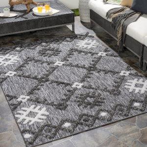Toledo Light Gray Rectangular: 6 Ft. 7 In. x 9 Ft. Indoor-Outdoor Rug