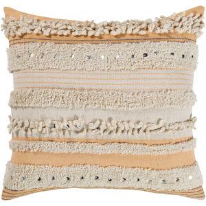 Temara Peach 22-Inch Pillow Cover