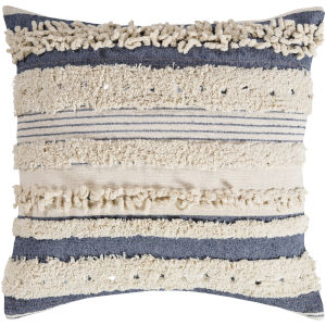 Temara Navy 22-Inch Pillow With Down Fill