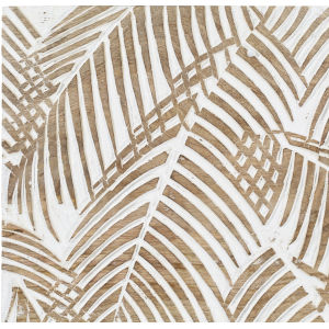 Tanu Natural and White Palm Leaf 12-Inch Wall Art