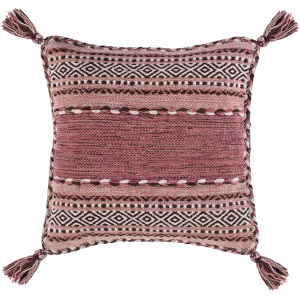 Trenza Pale Pink 22-Inch Throw Pillow
