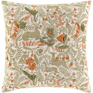 Tanzania Olive 18-Inch Throw Pillow