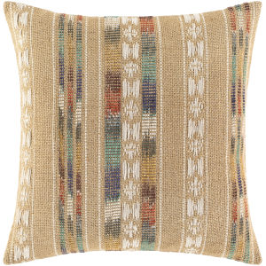Ulla Beige 22-Inch Throw Pillow